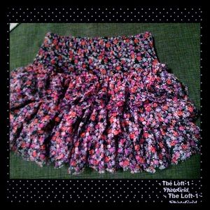 Adorable 6 Rows of Ruffles Justice Skirt w shorts